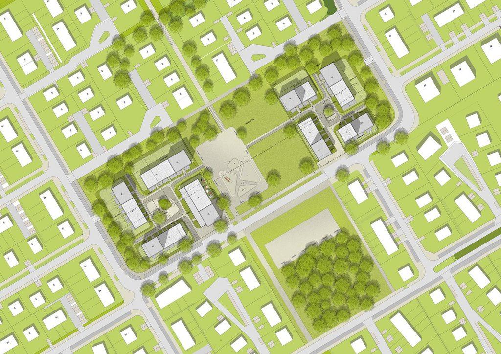 eins:eins architekten hamburg - Quartiersmitte Fischbeker Heidbrook