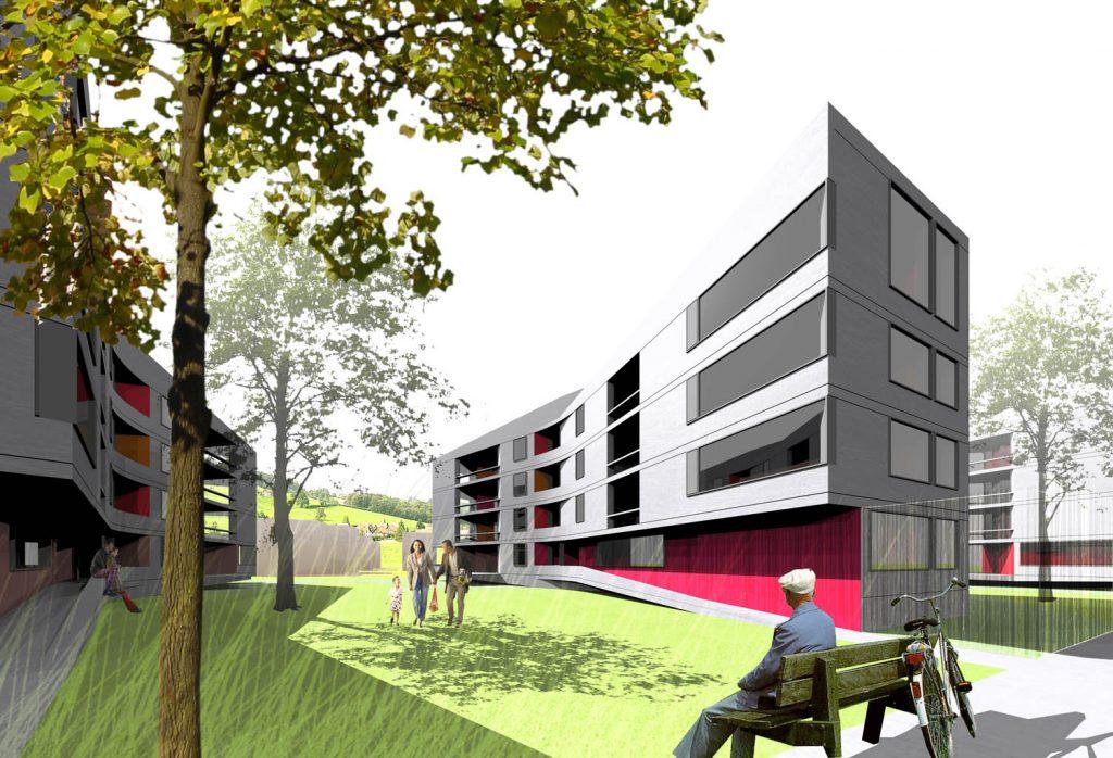eins:eins architekten hamburg - Wohnbebauung Notkersegg