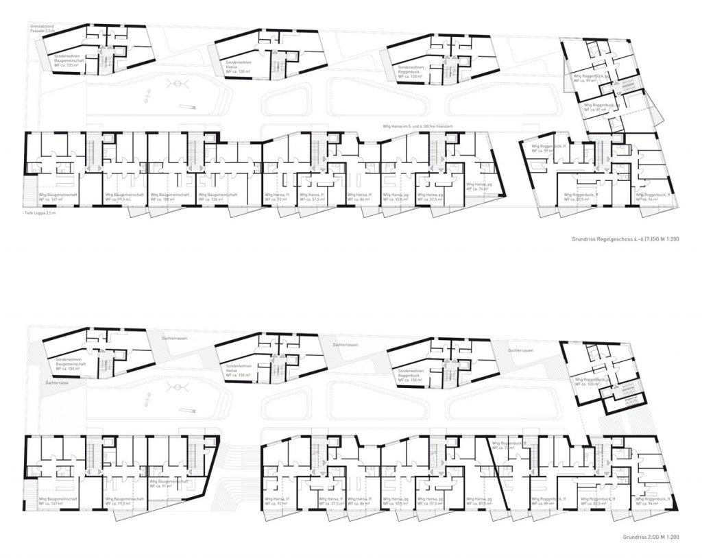 eins:eins architekten hamburg - Wohnvielfalt am Grasbrookpark