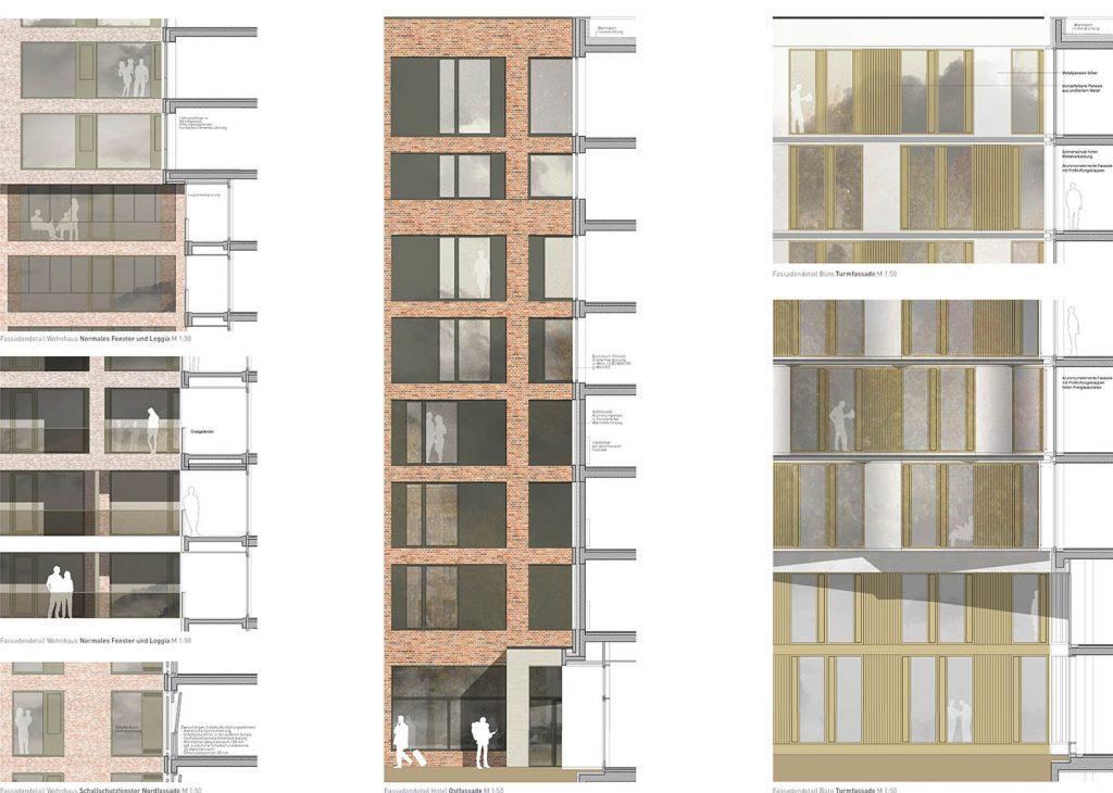 eins:eins architekten hamburg - Neuländer Quarree - Wohnen und Arbeiten am Wasser