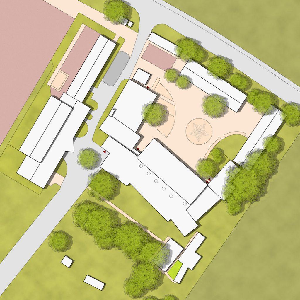 eins:eins architekten hamburg - Pausenmehrzweckhalle Grundschule Neuland