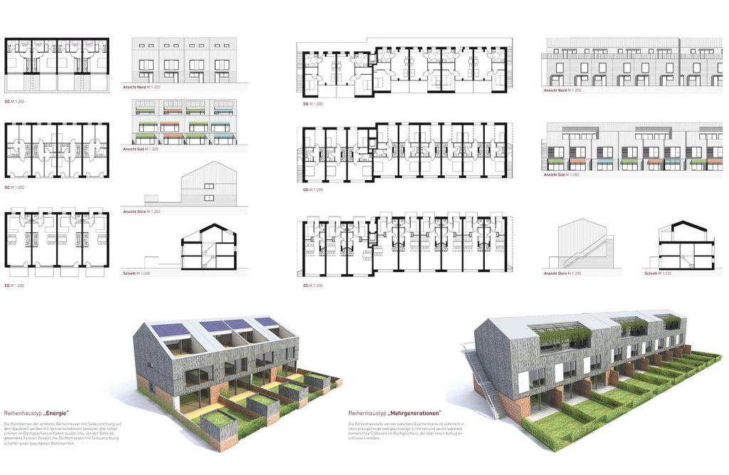 """eins:eins architekten hamburg - Klimamodellquartier """"Op´n Hainholt"""""""