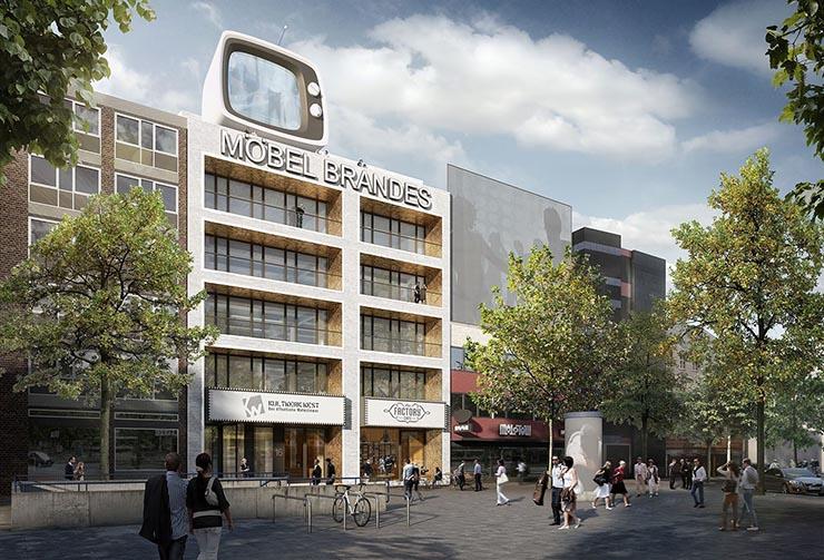 Umbau Möbelhaus Brandes Hat Begonnen Einseins Architekten