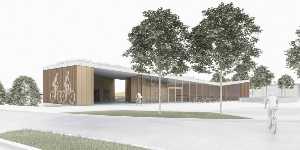 eins:eins architekten hamburg - Fahrradstation