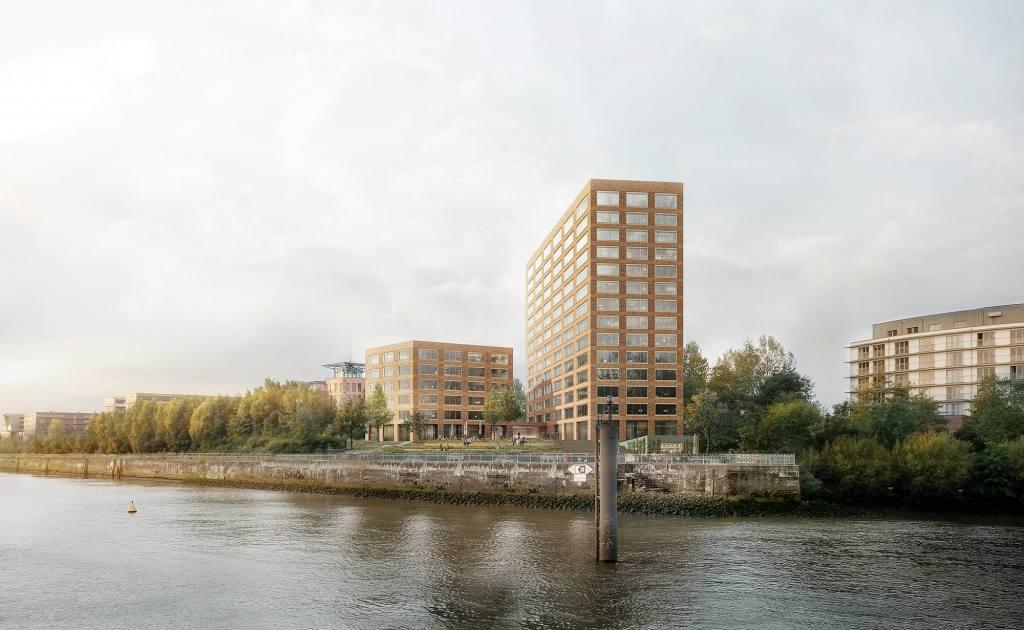 eins:eins architekten hamburg - Bürohochhaus Finkenwerder