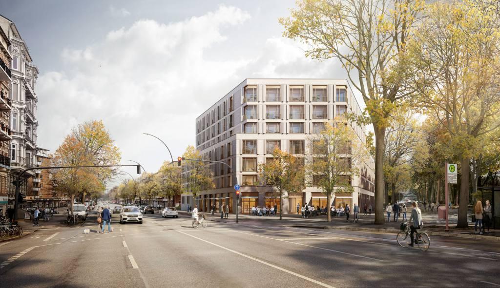 eins:eins architekten hamburg - Wohn- und Geschäftshaus Mundsburger Damm